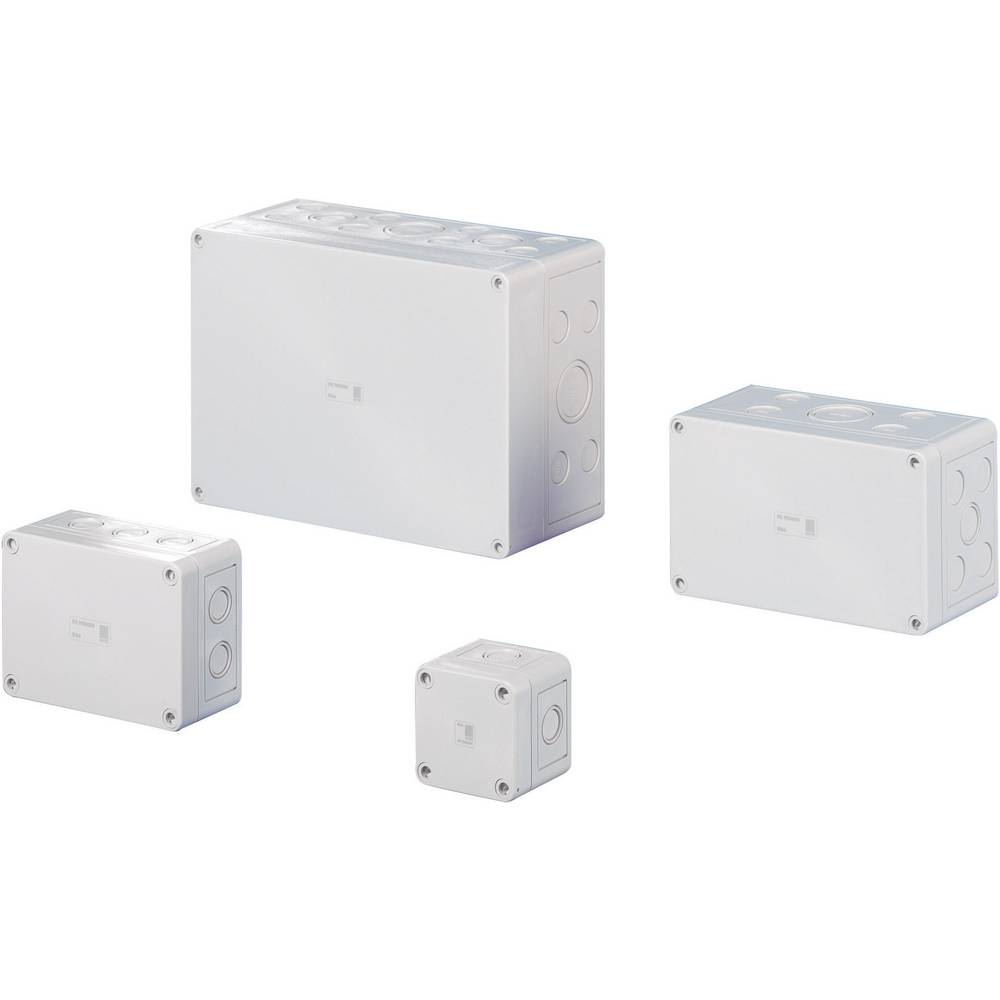 Rittal 9500.050-Instalacijsko kućište, polikarbonat, svijetlo sivo (RAL 7035), 65x65x57mm