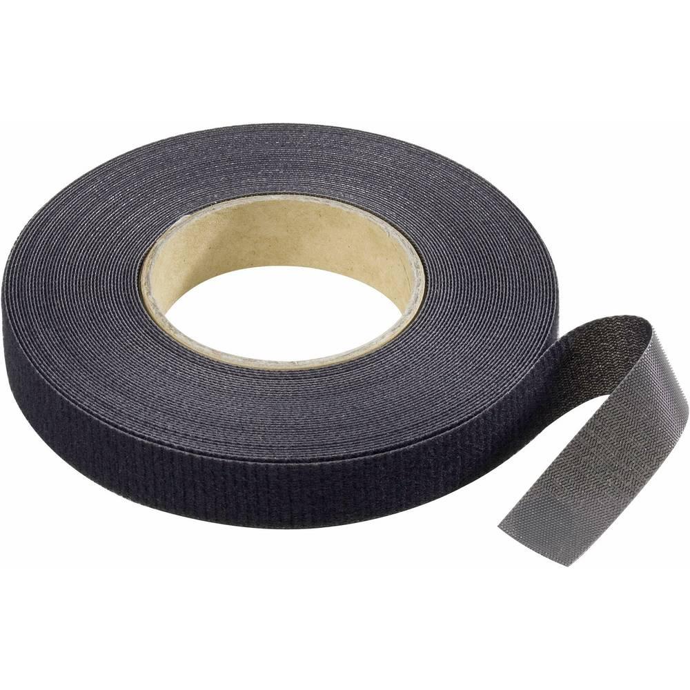 Traka s čičkom za vezanje Binder Band prianjajući i mekani dio (D x Š) 10 m x 16 mm crne boje 1 kom.