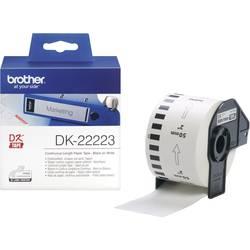 Brother tip etiketni trak DK-22223, DK22223, neprekinjen etiketni papir (50 mm x 30,48 m), bel, ZA QL Label Printers