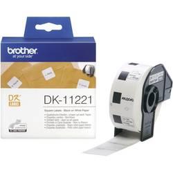 Brother tip etiketni trak DK-11221, DK11221, 1000 etikete, kvadratne, večnamenske (23 x 23 mm), bel, ZA QL etiket