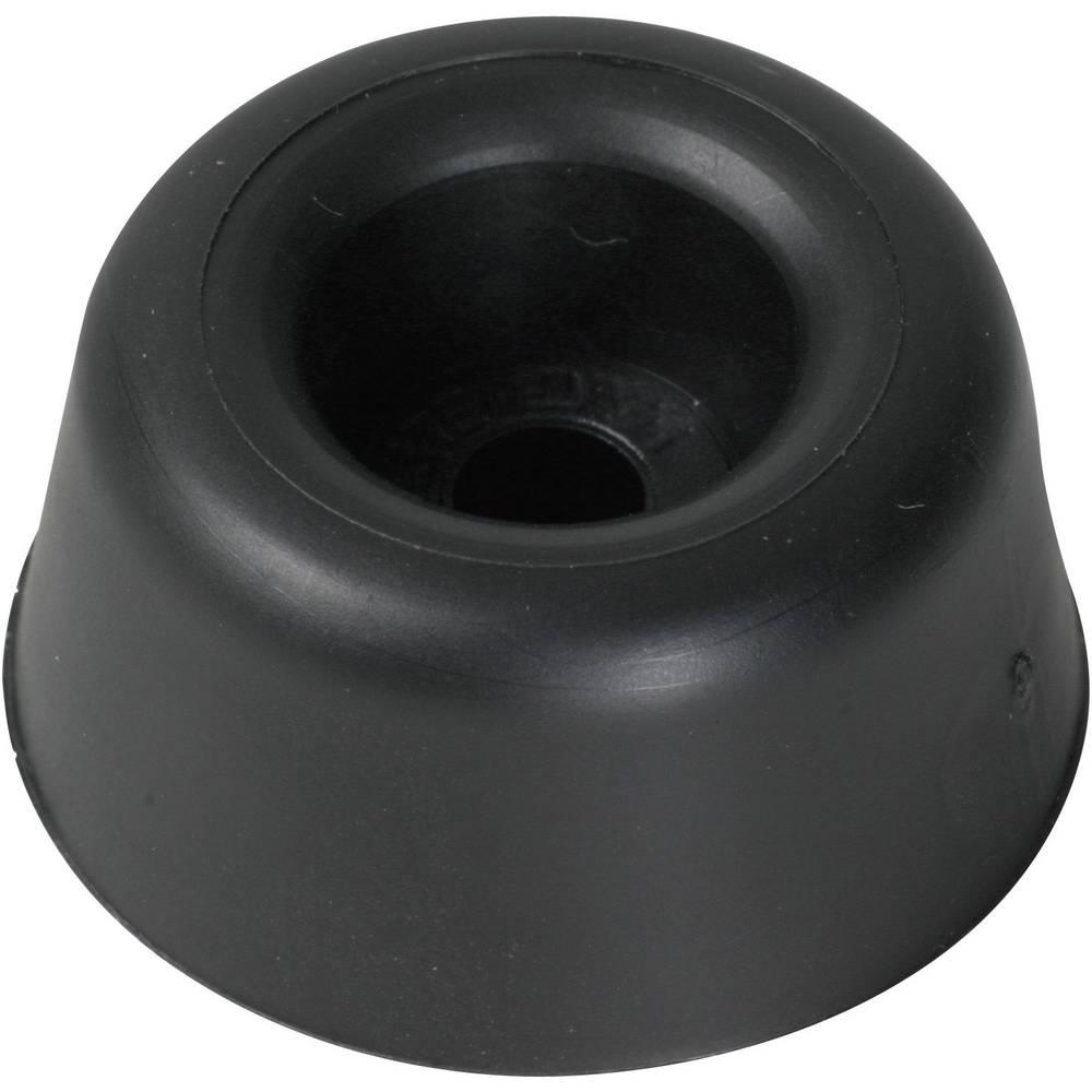 Påskruningsbuffer PB Fastener 100495 Sort (Ø x H) 20 mm x 13 mm 1 stk