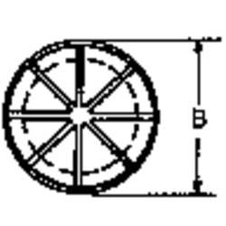 Kabelgenomföring PB Fastener AF0625 Kläm-Ø (max.) 11.1 mm Polyamid Svart 1 st