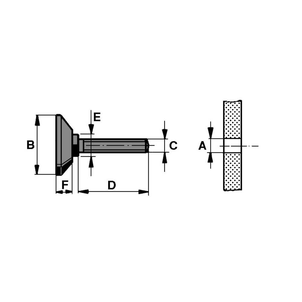 Chassisfod PB Fastener 148 3005 699 11 Skruebar Sort (Ø x H) 38 mm x 60 mm 1 stk