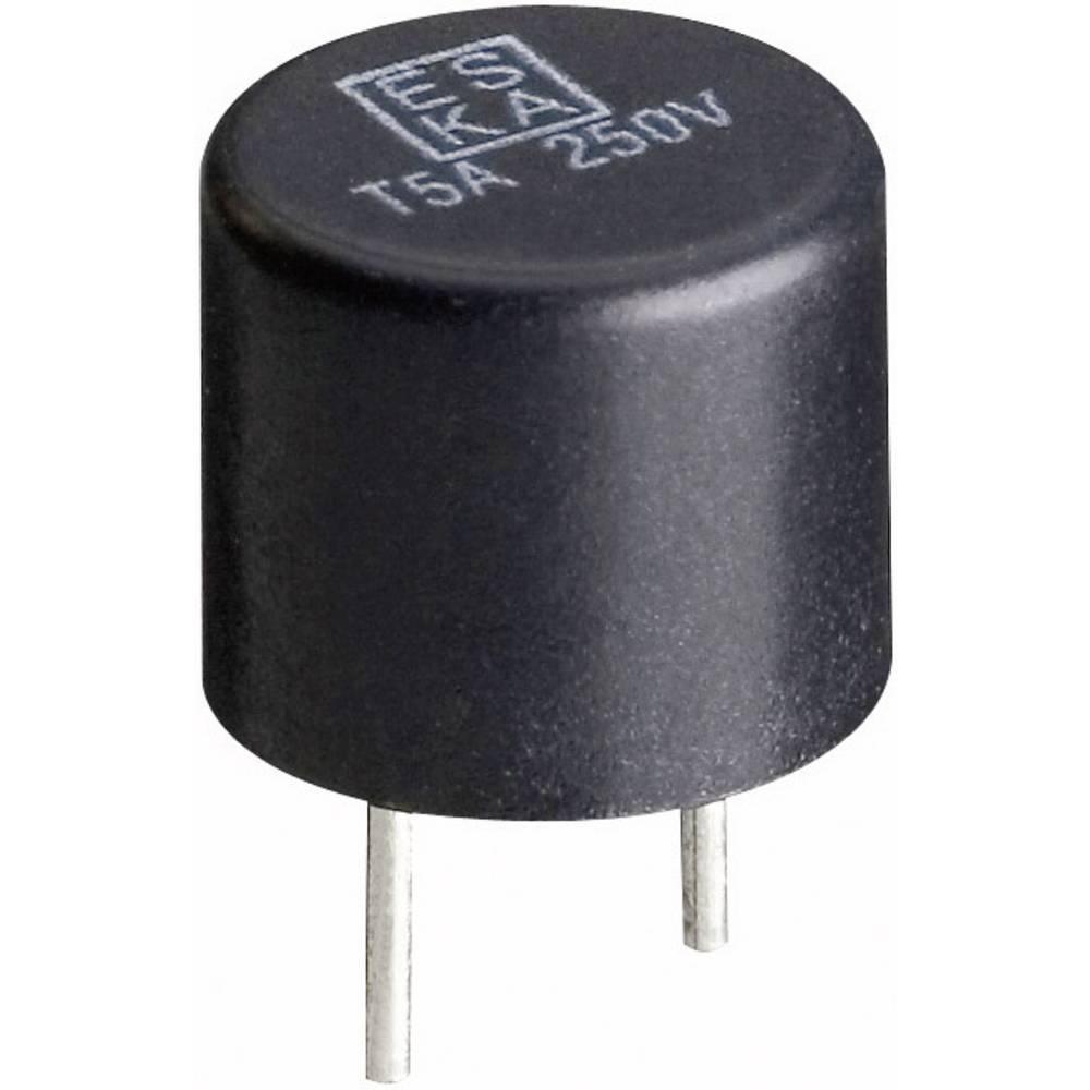 ESKA miniaturna varovalka , radialna, osvinčena, okrogla 1.25 A 250 V počasna -T- ESKA 887018G 1000 kosov