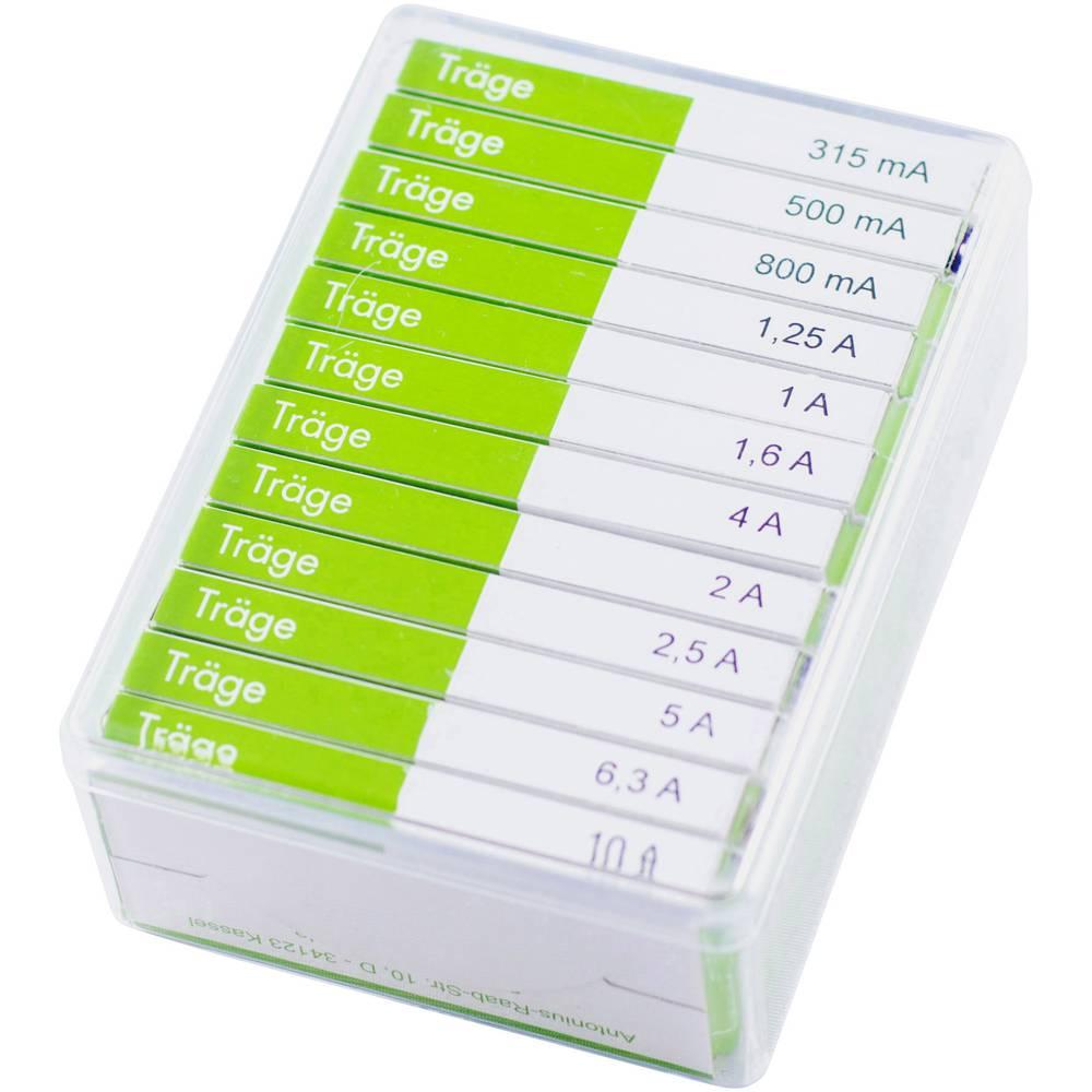 ESKA Sortiment varovalk 6,3 x32 mm počasne -P- vsebina: 120 kosov 632830