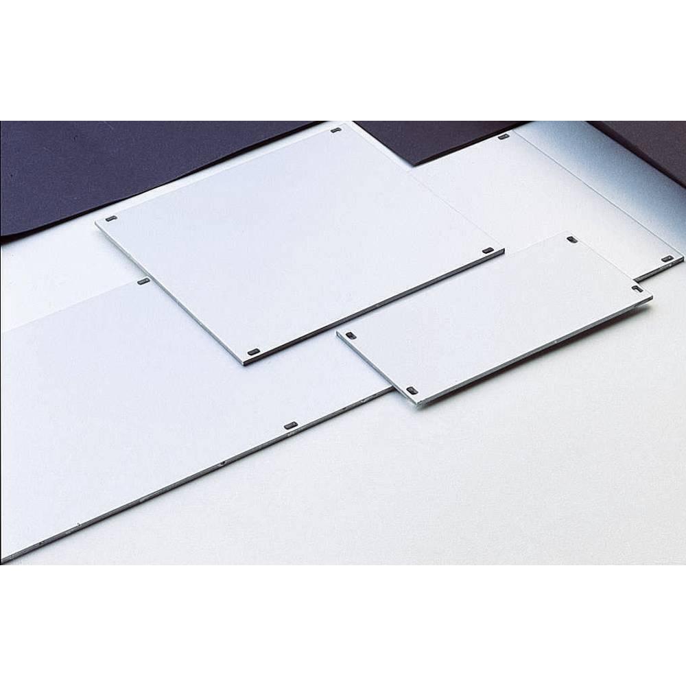 Frontplade (B x H) 426.4 mm x 128.4 mm Aluminium Sølv (mat, anodiseret) 1 stk