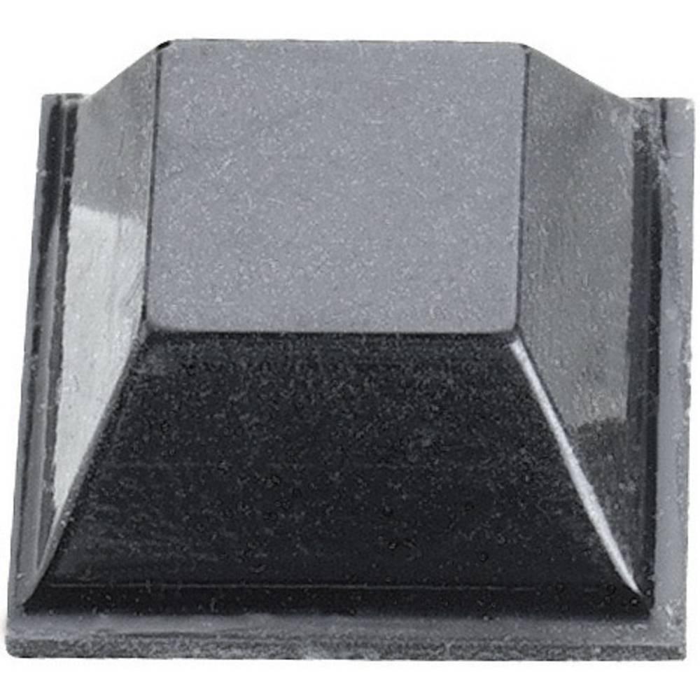 Chassisfod 3M SJ 5018 Selvklæbende, Kvadratisk Sort (L x B x H) 12.7 x 12.7 x 5.8 mm 1 stk