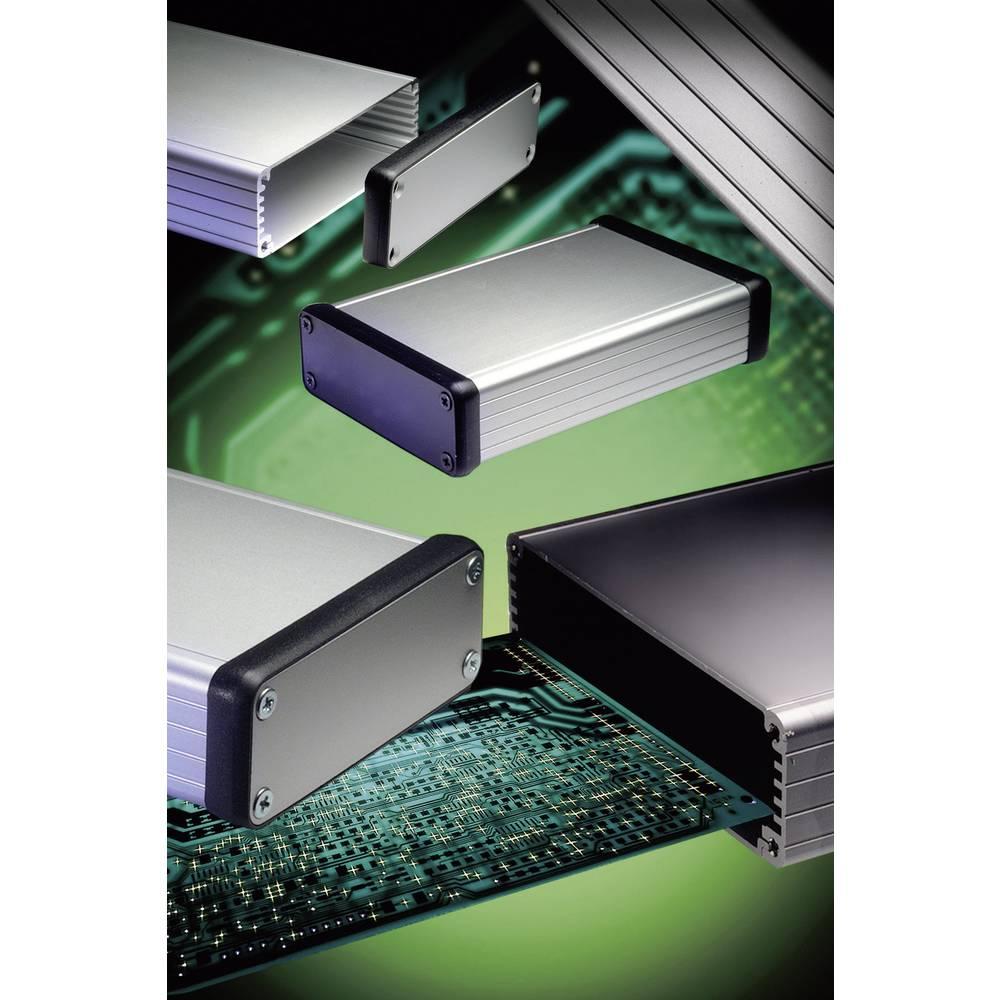 Profil-kabinet 162 x 78 x 43 Aluminium Sort Hammond Electronics 1455K1602BK 1 stk