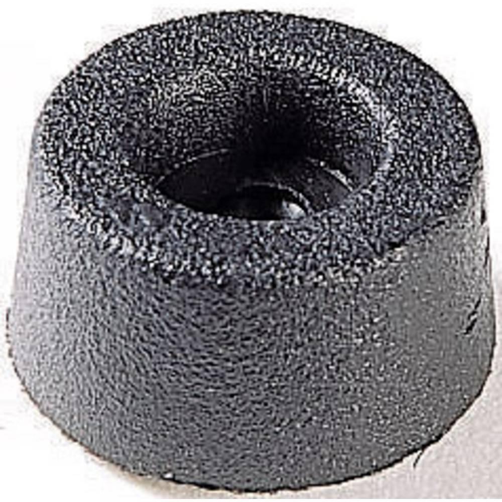 Chassisfod 4002 Skruebar, Rund Sort (Ø x H) 17.5 mm x 9 mm 1 stk