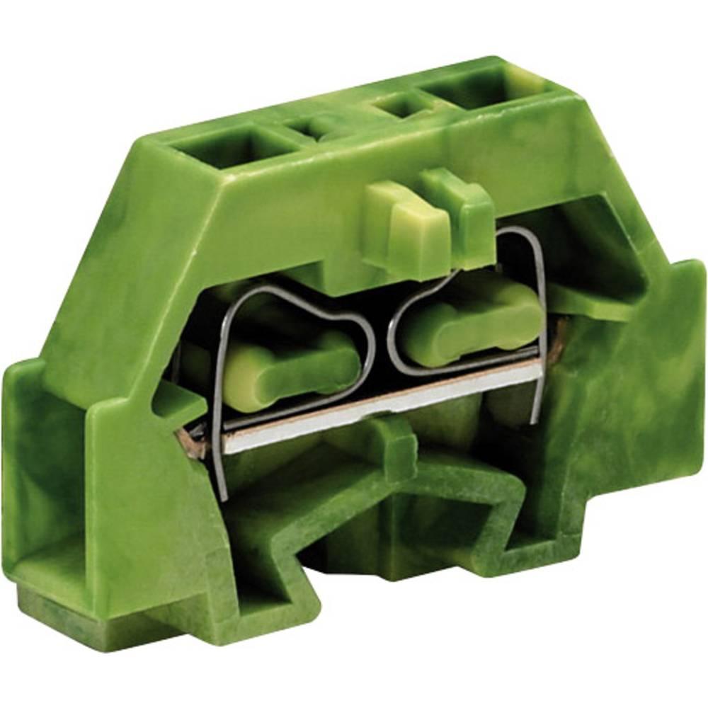 Enkelt klemme 5 mm Trækfjeder Belægning: Terre Grøn-gul WAGO 260-307 1 stk
