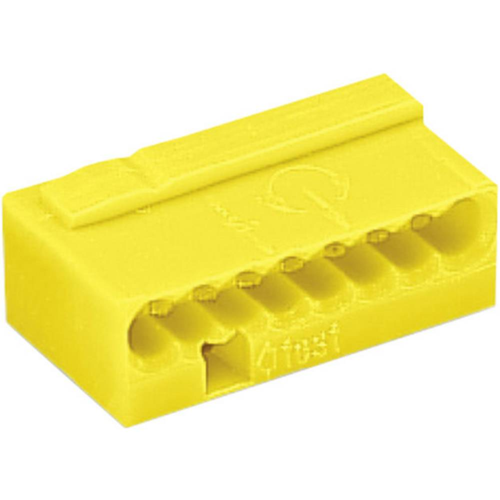 Mikro električna sponka WAGO Prečni prerez 4 x 0,6 - 0,8 mm2/8 x 0,6-0,8 mm2 6 A Rumena 243-508