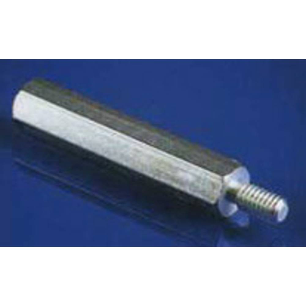 Razdaljni sornik 1 x zunanji navoj/1 x notranji navoj medenina velikost ključa 5.5 mm IA-MS-3-5,5-10
