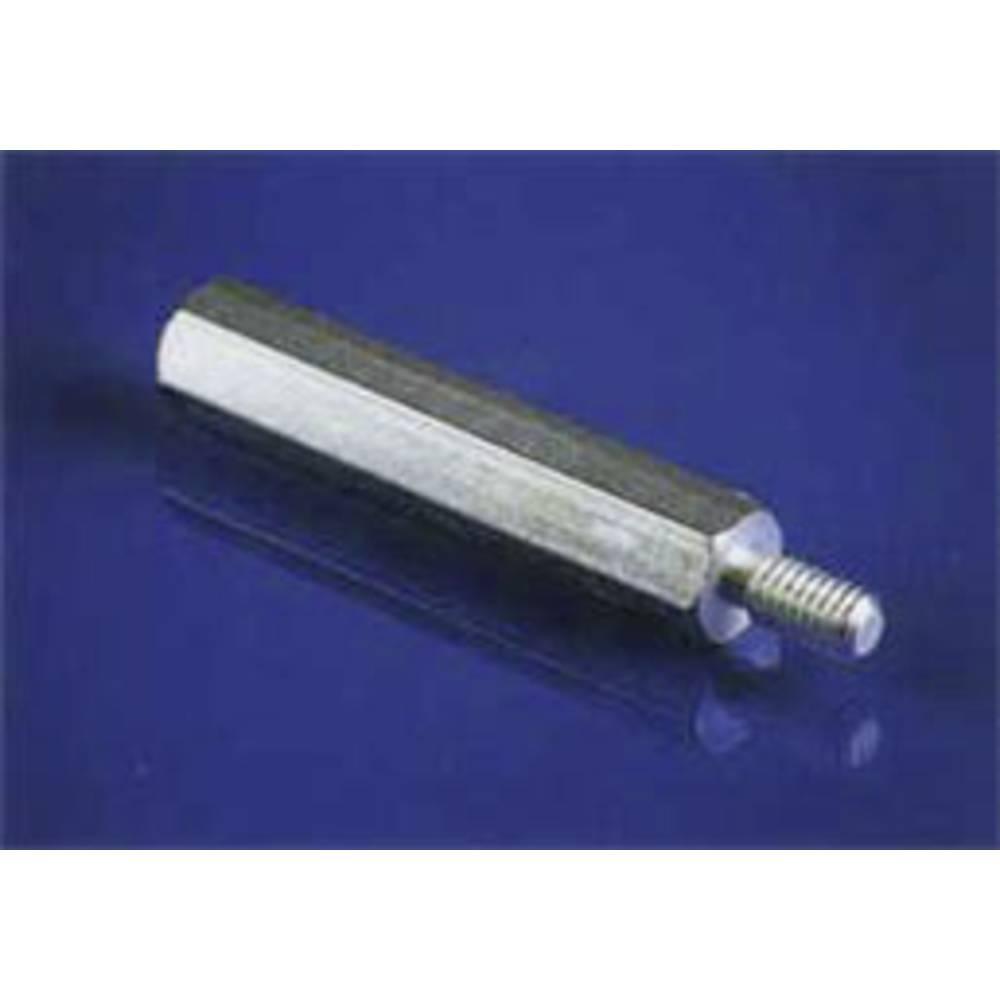 Razdaljni sornik 1 x zunanji navoj/1 x notranji navoj medenina velikost ključa 5.5 mm IA-MS-3-5,5-25