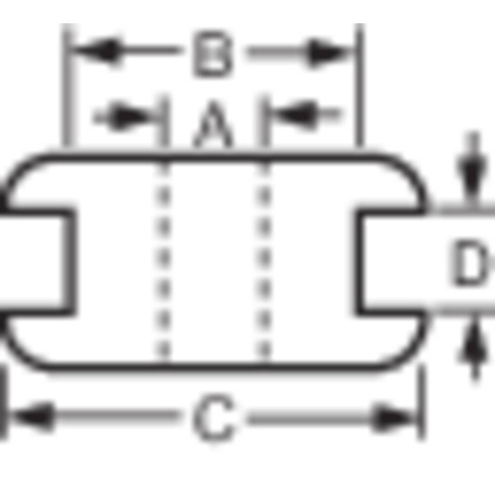 Kabelska uvodnica premer sponke (maks.) 6 mm PVC črne barve 1 kos