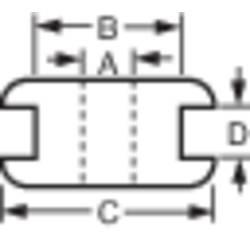 TRU COMPONENTS nastavek za speljavo kablov, premer sponke (maks.) 3 mm PVC črne barve 1 kos