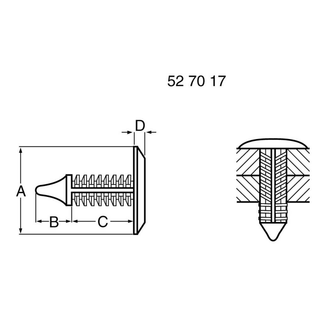 Printpladeholder PB Fastener 354-9097-0010 Plast Afstandsmål 14.2 mm 1 stk