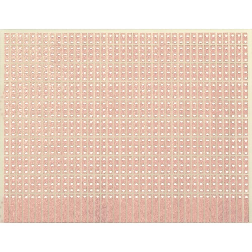 Printplade til eksperimenter Epoxid (L x B) 100 mm x 80 mm 35 µm Rastermål 2.54 mm WR Rademacher WR-Typ 904-1 Indhold 1 stk