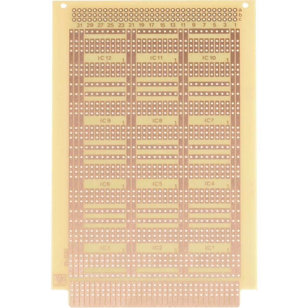 Experimentierplatine (value.1292427) Hårdt papir (L x B) 160 mm x 100 mm 35 µm WR Rademacher WR-Typ 932 Indhold 1 stk