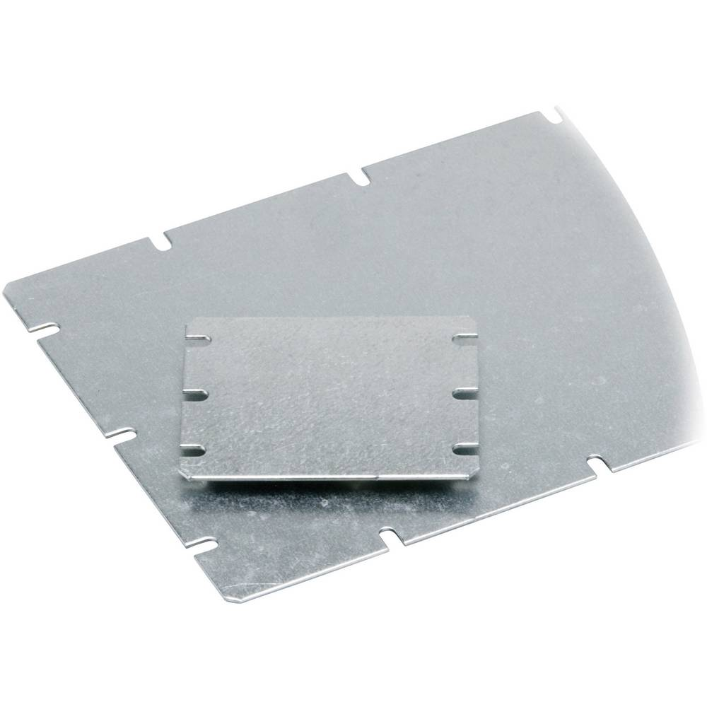 Fibox Mounting plate for MNX MIV 150 (L x W) 148 mm x 98 mm Steel Light grey Compatible with Order no. 52 76 66 · Order no. 52 7