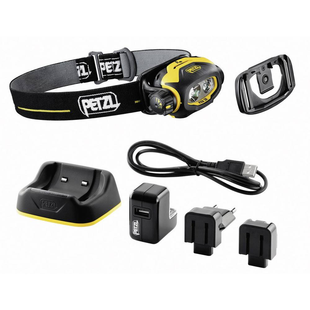 Akumulatorska-naglavna luč Petzl PIXA 3R za EX-območja: 2, 22 LED INERIS11ATEX3022 E78CHR Standard > 6 h · High > 3 h