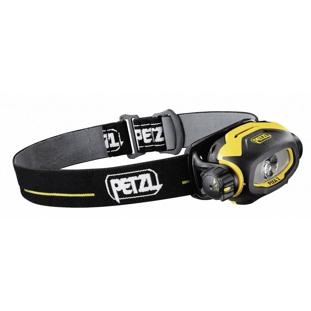 Naglavna luč Petzl PIXA 2 za EX-območja: 2, 22 LED INERIS10ATEX3015 E78BHB Standard > 12 h · High > 6 h rumeno-črna