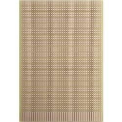 Prüfungsplatine (value.1292429) Hårdt papir (L x B) 160 mm x 100 mm 35 µm Rastermål 2.54 mm WR Rademacher WR-Typ 946 Indhold 1 s