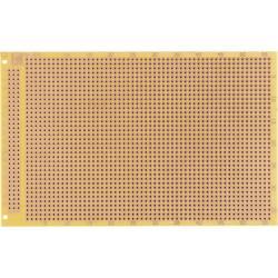 Prüfungsplatine (value.1292429) i henhold til IHK-retningslinjerne Hårdt papir (L x B) 100 mm x 160 mm 35 µm Rastermål 2.54 mm W