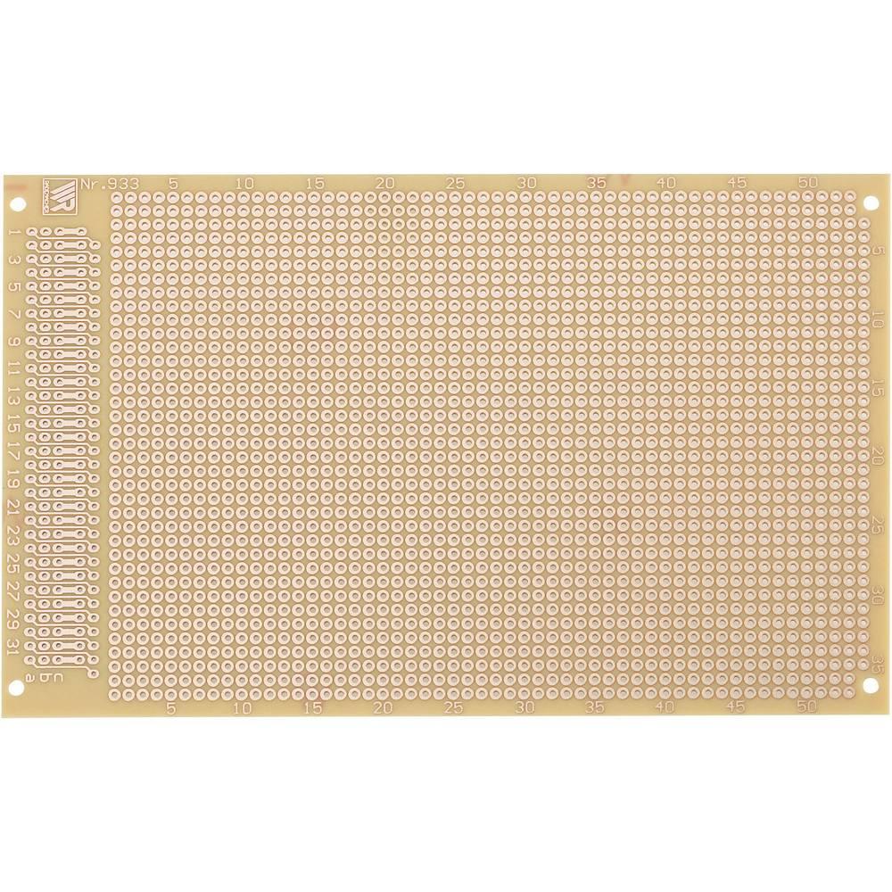 Elektroniske testkort i henhold til IHK-retningslinjerne Hårdt papir (L x B) 160 mm x 100 mm 35 µm Rastermål 2.54 mm WR Rademach
