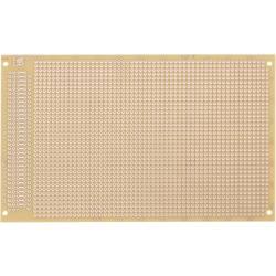 Prüfungsplatine (value.1292429) i henhold til IHK-retningslinjerne Hårdt papir (L x B) 160 mm x 100 mm 35 µm Rastermål 2.54 mm W