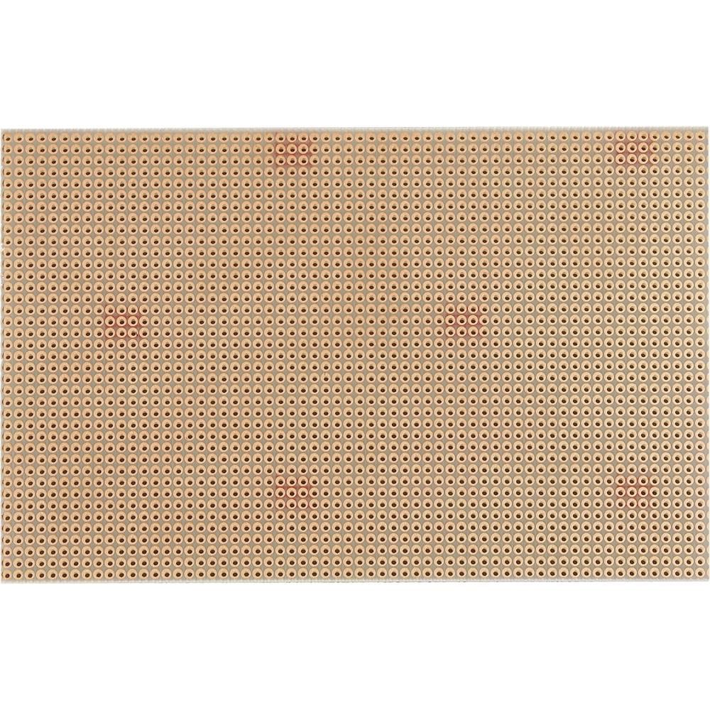 Printplade Epoxid (L x B) 160 mm x 100 mm 35 µm Rastermål 2.54 mm WR Rademacher WR-Typ 811-5 Indhold 1 stk