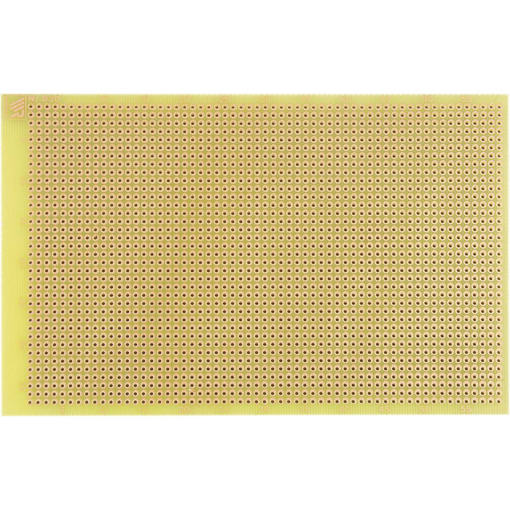 Experimentierplatine (value.1292427) Epoxid (L x B) 160 mm x 100 mm 35 µm Rastermål 2.54 mm WR Rademacher WR-Typ 830-EP Indhold
