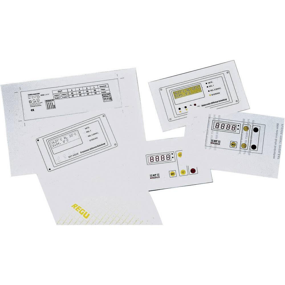 Folija za prednju ploču, veličina DIN A4 prozirna