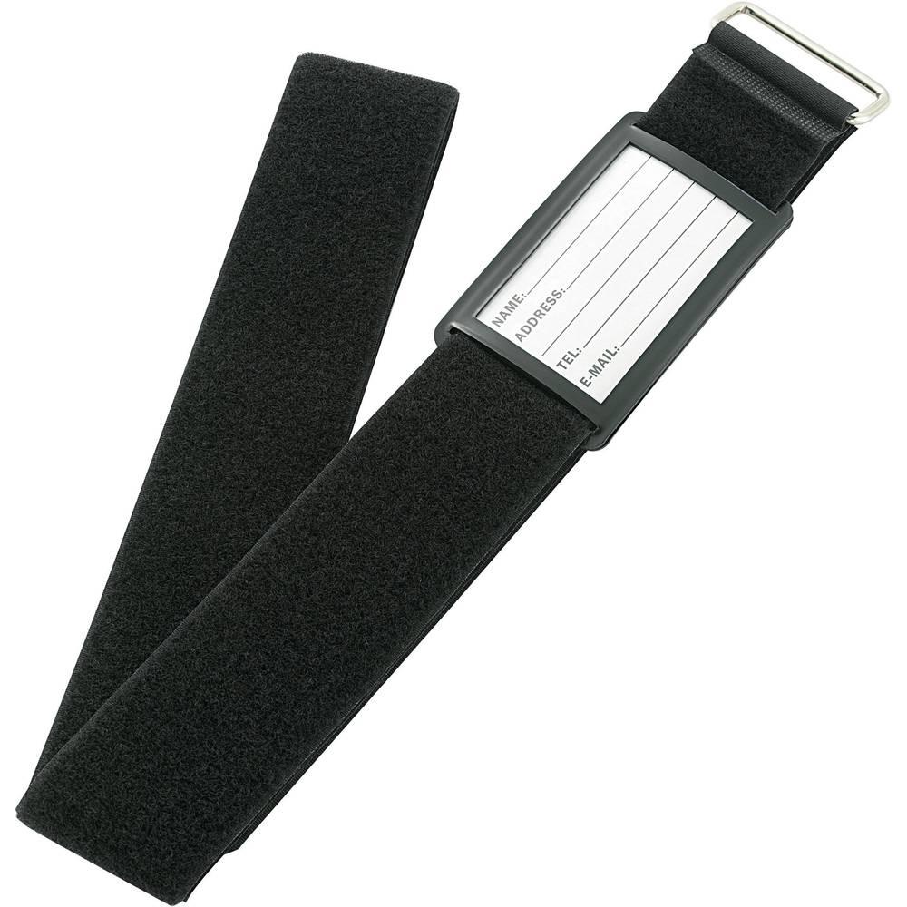 Remen za kofer s čičkom prianjajući i mekani dio (D x Š) 2 m x 60 mm crna VF50/2MBK 1 komad