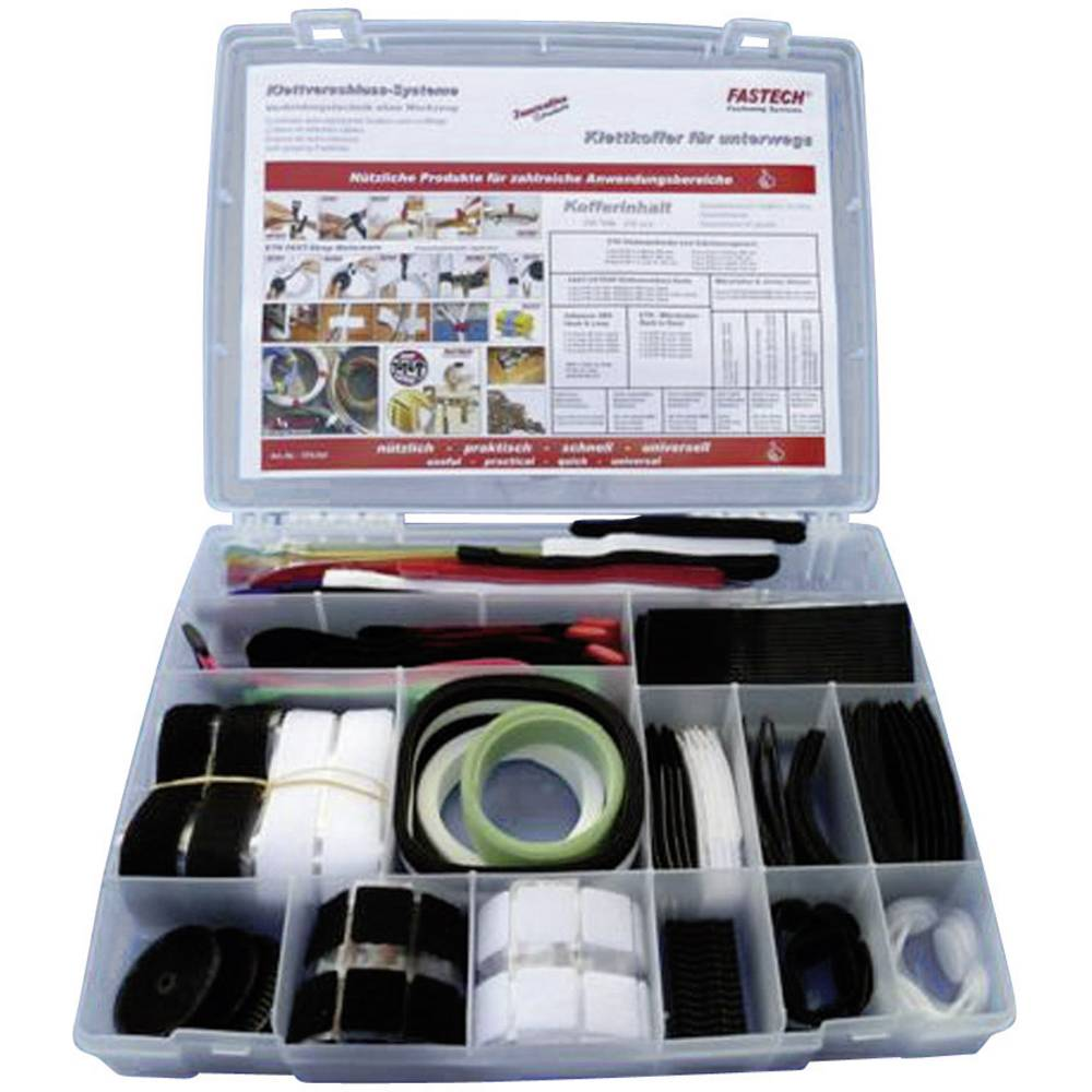 Kovček s sprijemalnimi trakovi/ježki za na pot Fastech 576,komplet, 200 kosov 576-Set