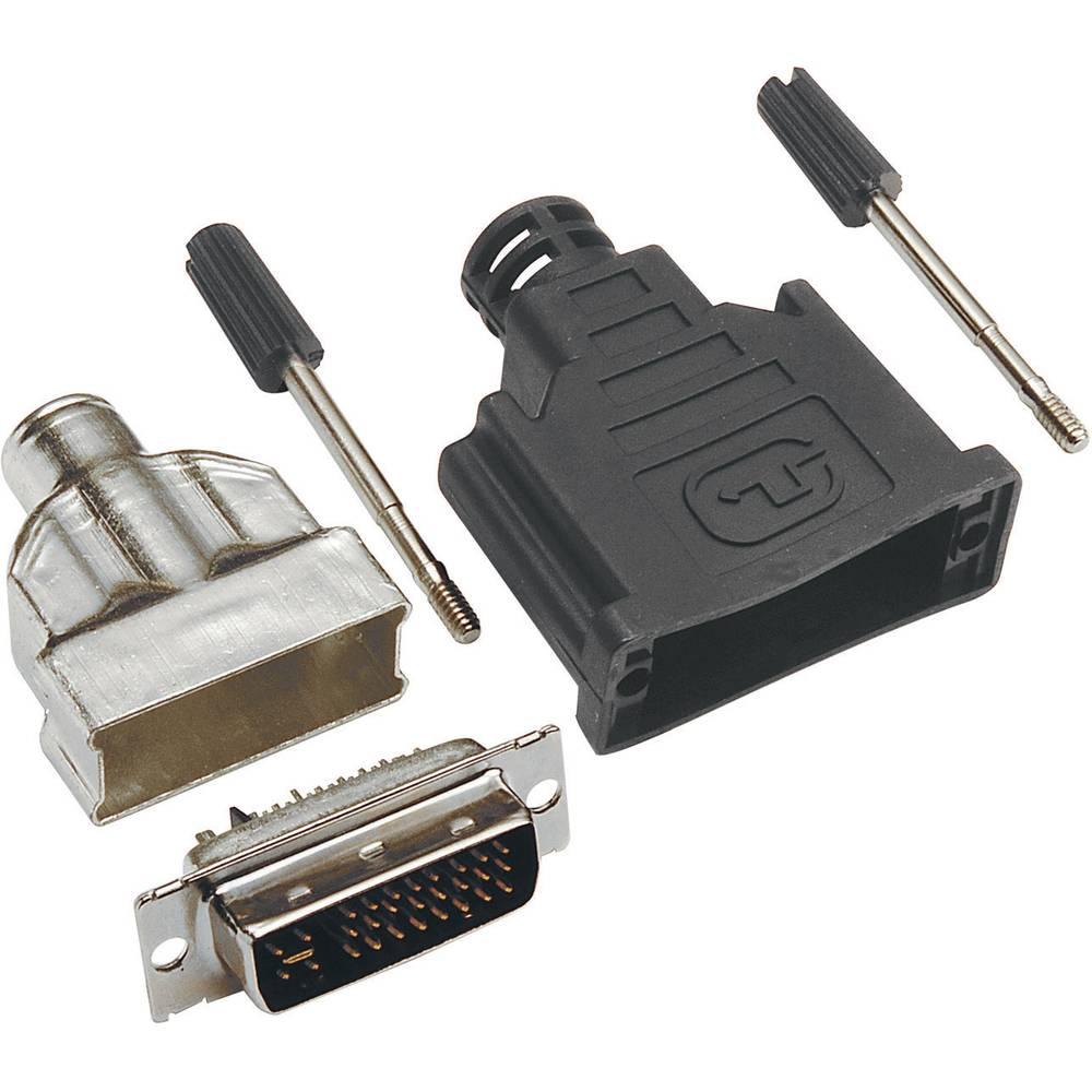 DVI-Konektor, oplaščen, 24+1 priklop: spajkan 908000 BKL Electronic