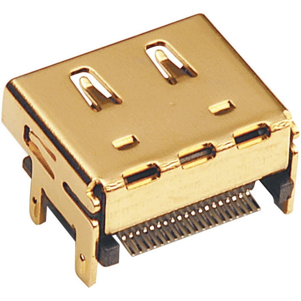 Vgradni ženski konektor, združljiv s HDMI SMD-montaža na tiskano vezje 907008 BKL Electronic