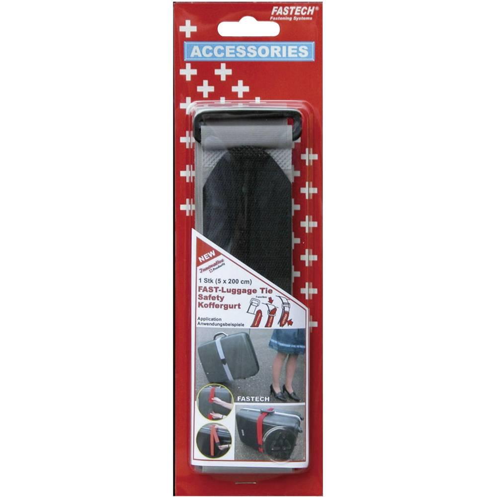Remen za kofer s čičkom 922-0822 Fastech prianjajući i mekani dio (D x Š) 200 cm x 5 cm siva 1 komad