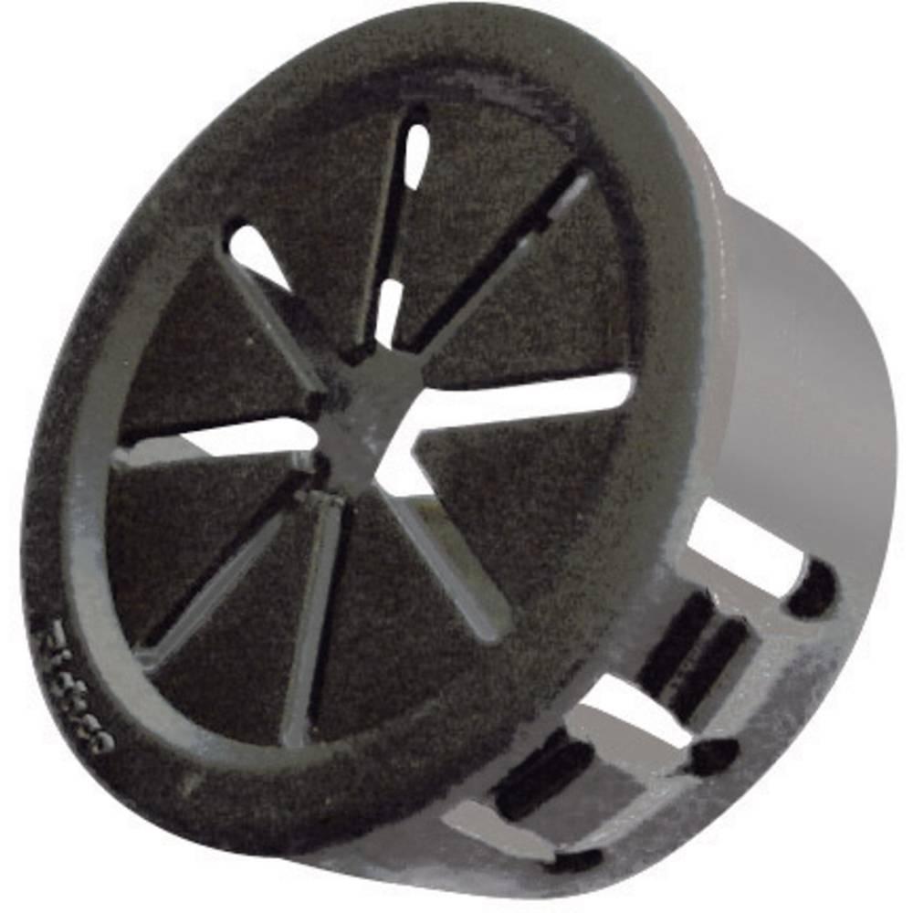 Kabelska uvodnica premer sponke (maks.) 7.9 mm poliamid črne barve Richco PGSD-1 1 kos