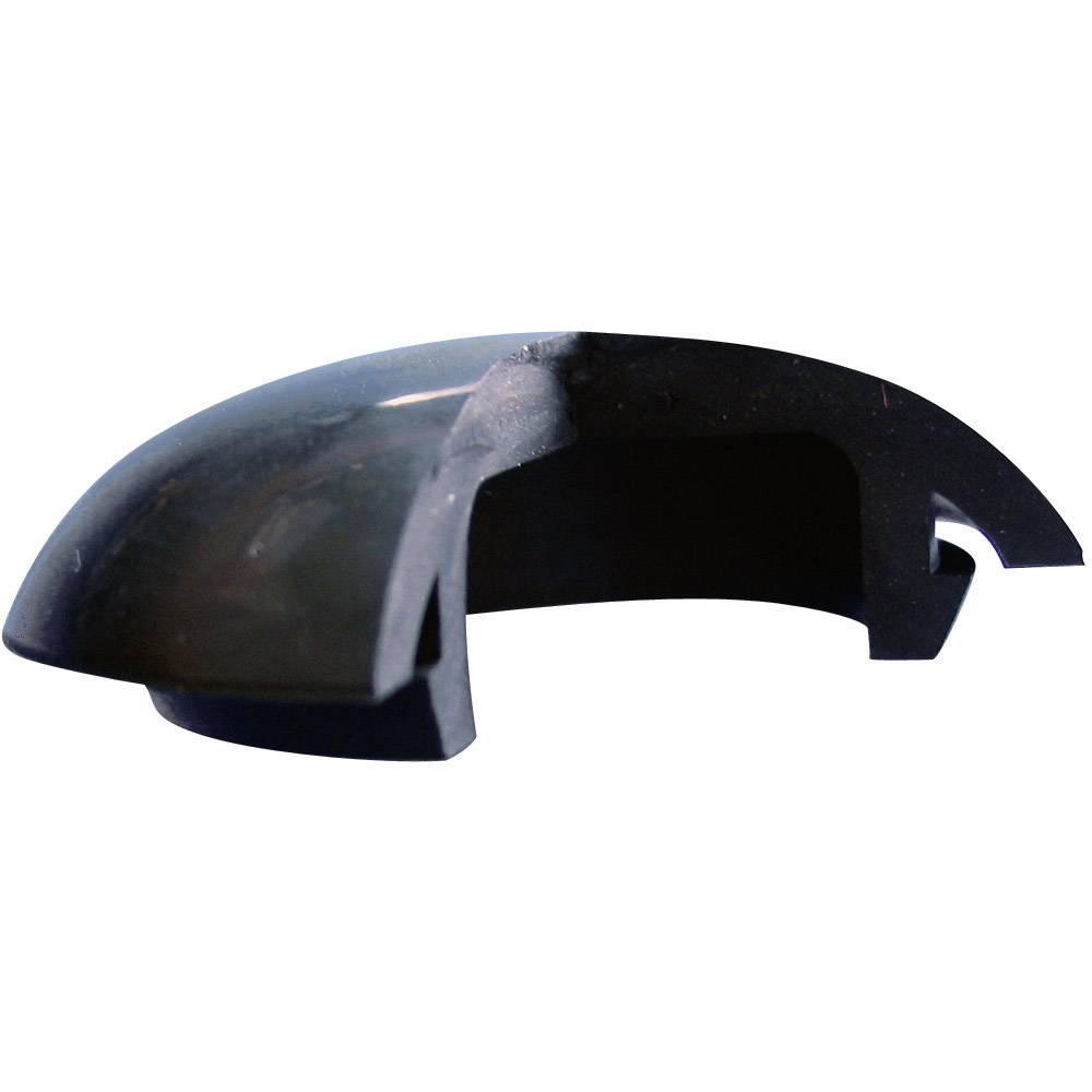 Čep silikon, kavčuk črne barve Richco LTP-5 1 kos
