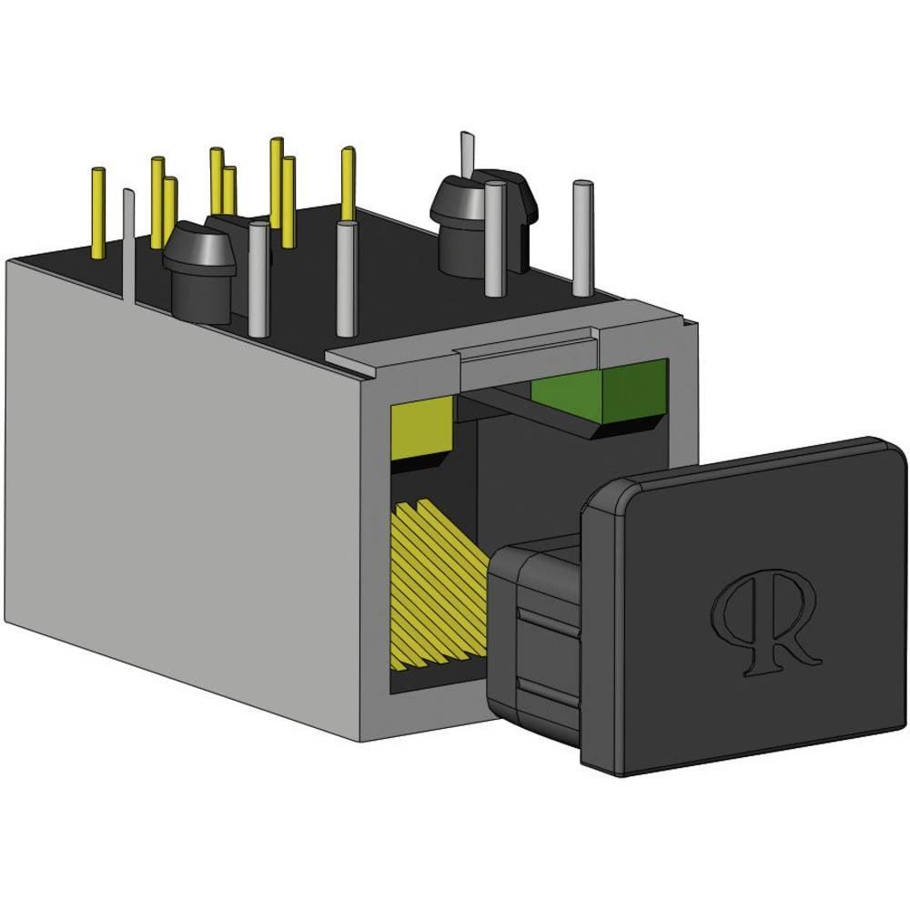 Pokrovček RJ45 silikon, kavčuk črne barve Richco CP-RJ45 1 kos