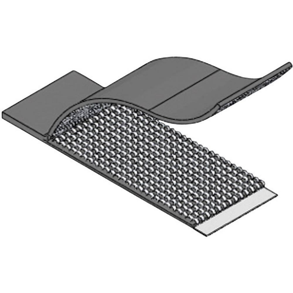 Samoljepljiva traka s čičkom za vezanje kablova Richco prianjajući i mekani dio (D x Š x V) 52.3 x 19.8 x 1.5 mm crna RKWFA-16-3