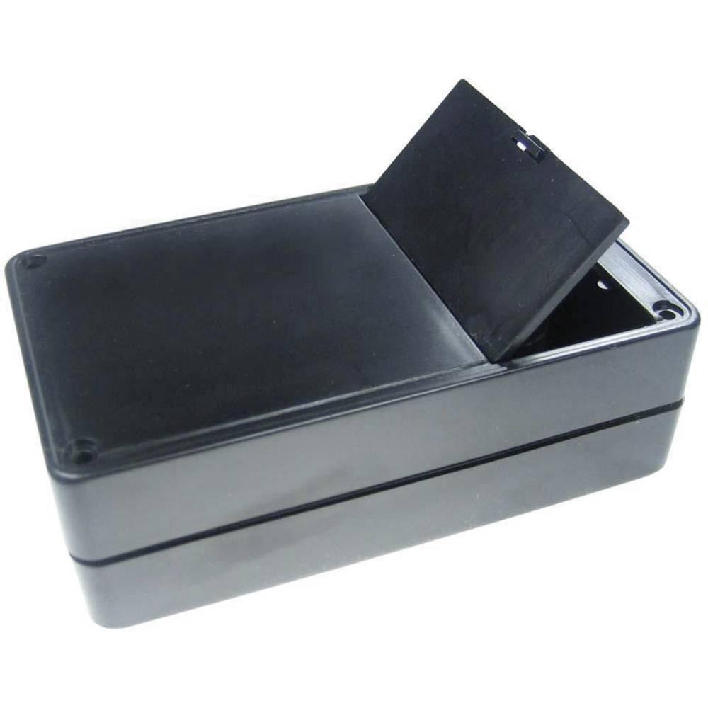 Kemo Ohišje iz umetne mase s prostorom za baterije G02B, (Dx Šx V) 123 x 72 x 39 mm, črno