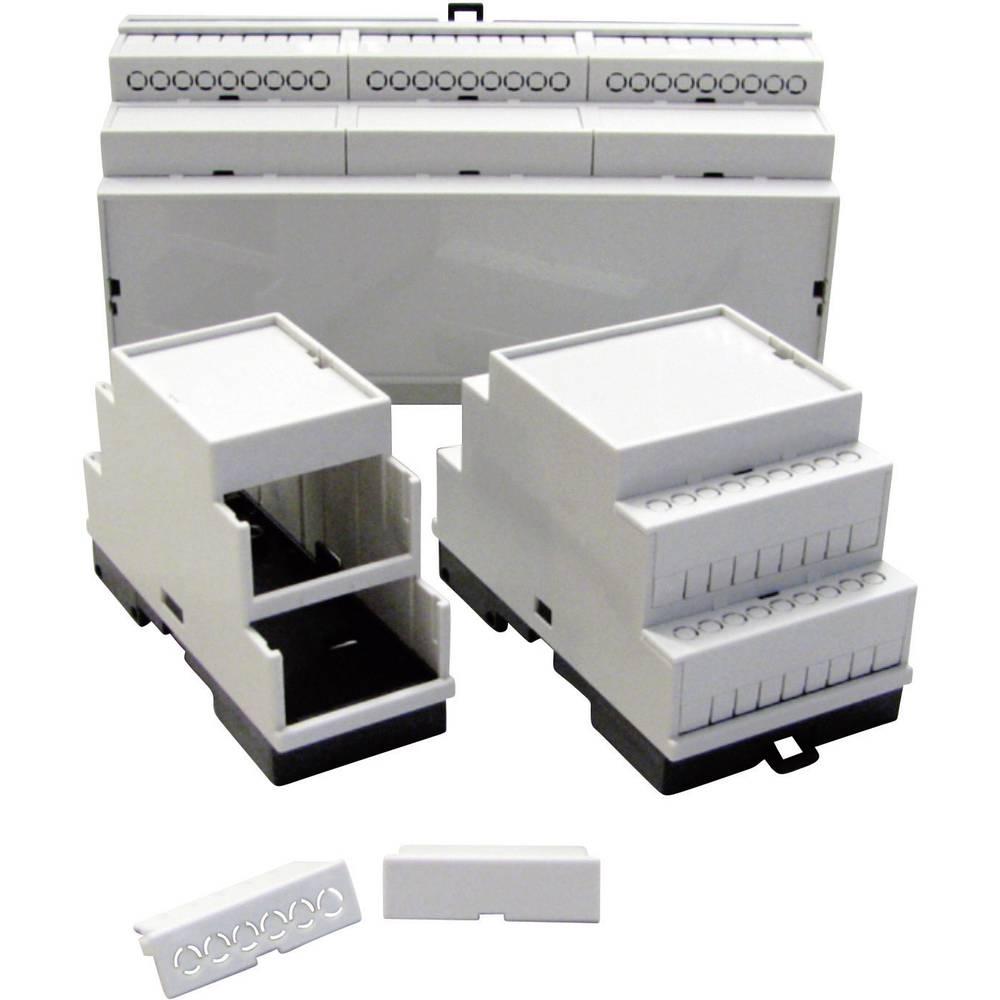 P/N 5200100035 -Stopničasto ohišje za DIN-letev, umetna masa, sivo (RAL 7035), 35x86x60mm