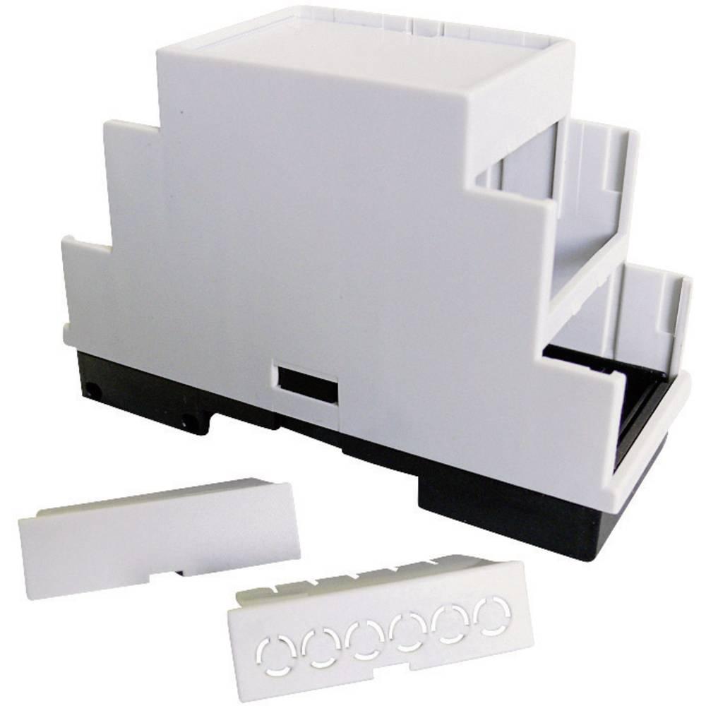 P/N 5200100210-Stepenasto kućište za DIN-letvu, umjetna masa, sivo (RAL 7035), 210x86x60mm