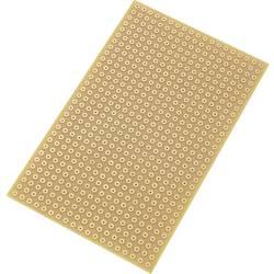 Plošča za tiskano vezje, trdi papir (D x Š) 90 mm x 50 mm 35 µm raster 5.08 mm TRU COMPONENTS SU527785 vsebina: 1 kos