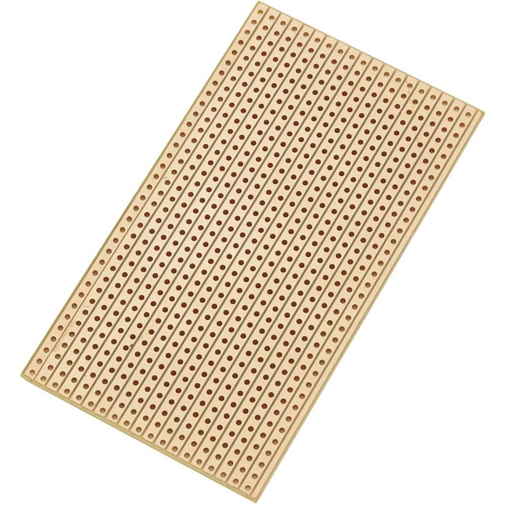 Conrad Universal tiskana plošča-mreža SU527629 (D x Š x V) 90 x 50 x 1.6 mm mreža 2.54 mm trdi papir