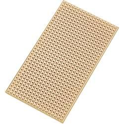 Europlatine (value.1292428) Hårdt papir (L x B) 90 mm x 50 mm 35 µm Rastermål 2.54 mm Conrad Components SU527629 Indhold 1 stk