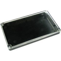 Kemo kućište od umjetne mase sprozirnim poklopcem G090, (DxŠxV) 120 x 70 x 15mm, crna