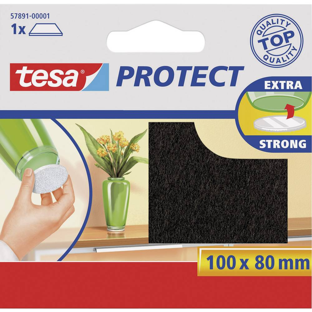 TESA tesa®-Zaštitni filc jastučić, 100x80mm, braon 57891-00001-00