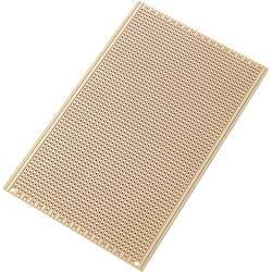 Europlatine (value.1292428) Hårdt papir (L x B) 160 mm x 100 mm 35 µm Rastermål 2.54 mm Conrad Components SU527556 Indhold 1 stk